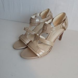 Via Spiga Beige Heel Sandals Leather size 8